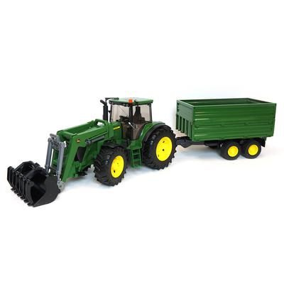 John Deere 7930 with Frontloader and Trailer