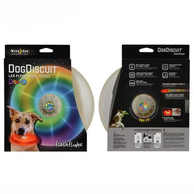 Flashflight® Dog Discuit™ LED Light-Up Flying Disc