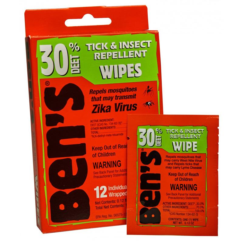 Ben's ® 30 Tick & Insect Repellent Wipes 12