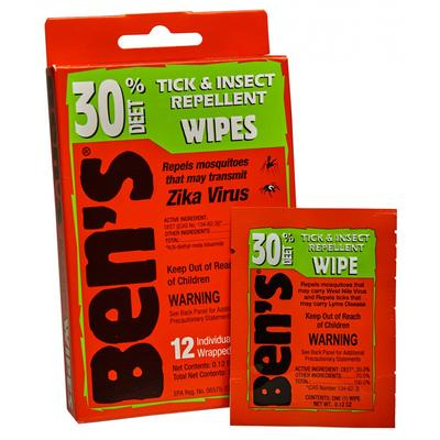 Ben's® 30 Tick & Insect Repellent Wipes 12