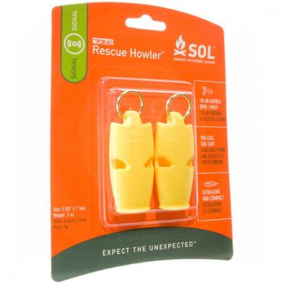 S.O.L. Rescue Howler Whistle, 2/Pack