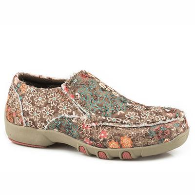 Girls' Multi-Color Fabric Chase Floral Moc
