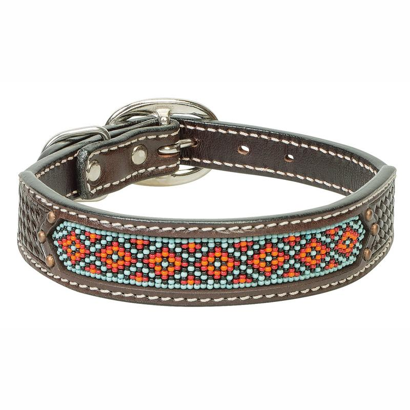 Beaded Basketweave Dog Collar
