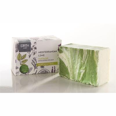Mediterranean Lime Salt All Natural Exfoliating Spa Bar Soap
