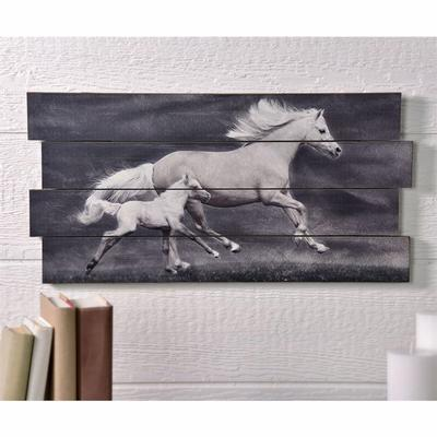 Running Horse and Baby Design Wall Art