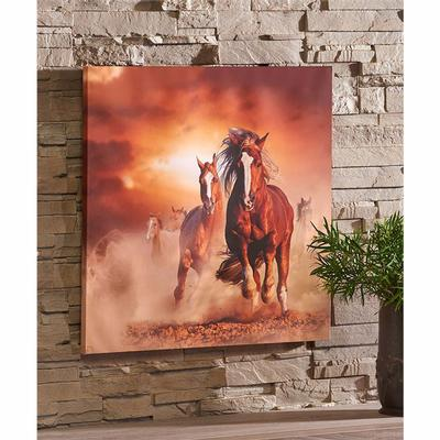 Canvas Print Horses Running Design