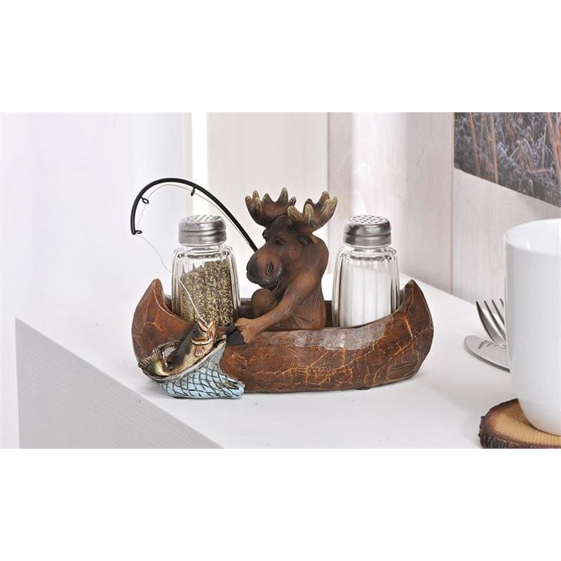 Salt And Pepper Shakers With Tray Set - 3pc.