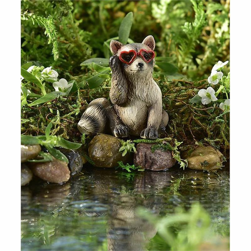 Resin Rockstar Raccoon Design Mini Figurine