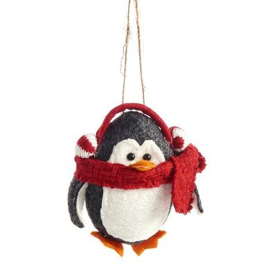Fabric Penguin Ornament