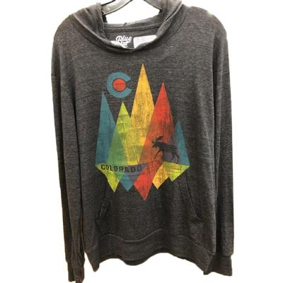 Shard Mountain CO Tri-Blend Long Sleeve Hooded Shirt