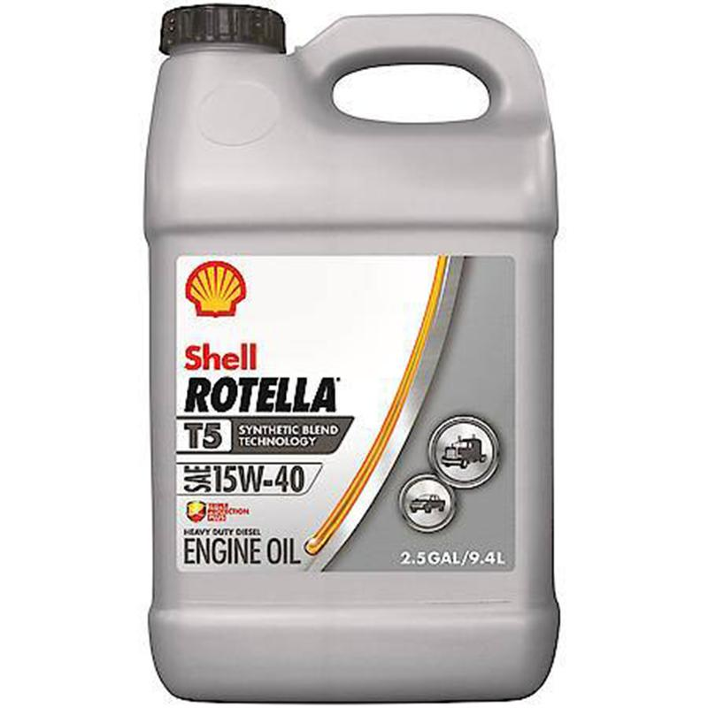 Rotella ® T5 15w- 40 Synthetic Blend Heavy Duty Diesel Engine Oil, 2.5 Gallon