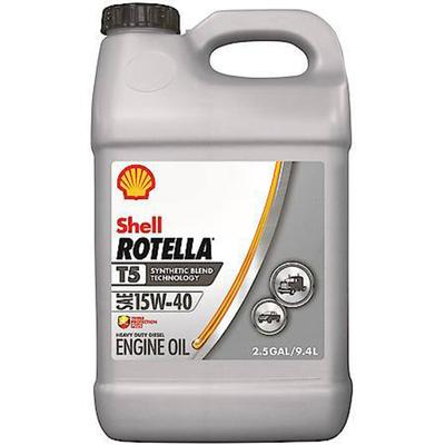 Rotella® T5 15W-40 Synthetic Blend Heavy Duty Diesel Engine Oil, 2.5 Gallon
