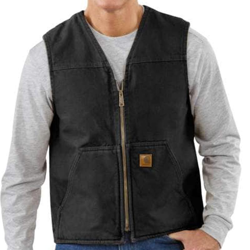 Men's Sandstone Rugged Vest/Sherpa Lined