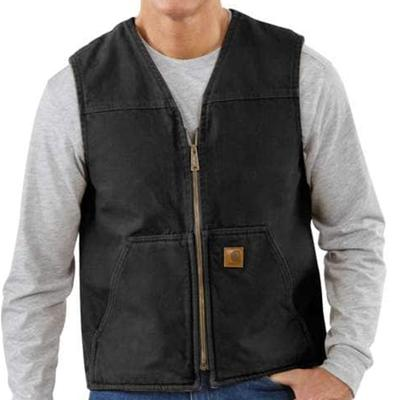 Men's Sandstone Rugged Vest / Sherpa Lined