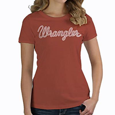 Women's Retro Short Sleeve Slim Fit Rope Logo