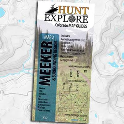 Map 2 - Meeker Colorado Hunting Map