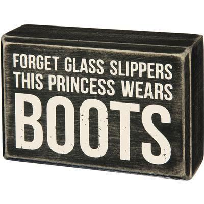 Box Sign - Princess Boots