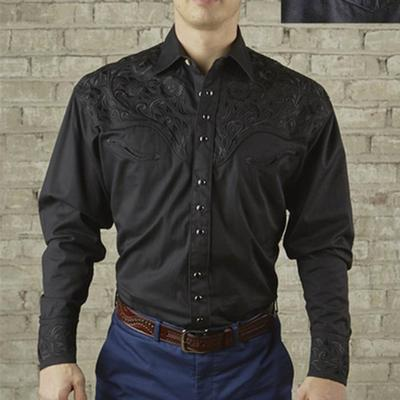 Men's Vintage Tooling Embroidery Western Shirt