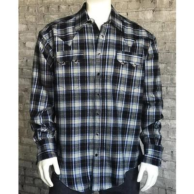 Men's Flannel Plaid Western Shirt