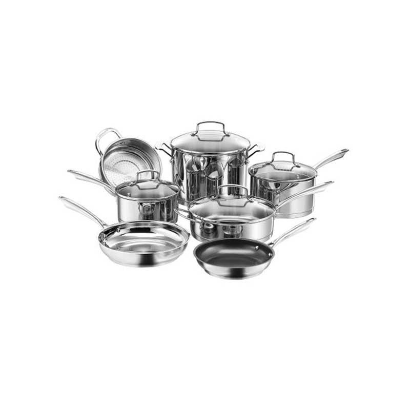 Nesting Stainless Steel 11 Piece Cookware Set