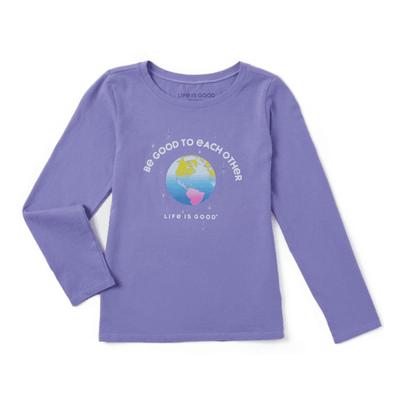 Girl's Be Good To Each Other Long Sleeve Crusher Tee