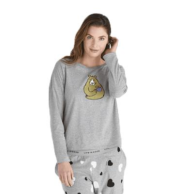 Women's Bearly Snuggle Up Relaxed Sleep Long Sleeve