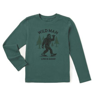 Boy's Big Foot Long Sleeve Crusher Tee