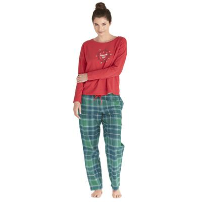 Women's Fresh Pine Plaid Classic Sleep Pant