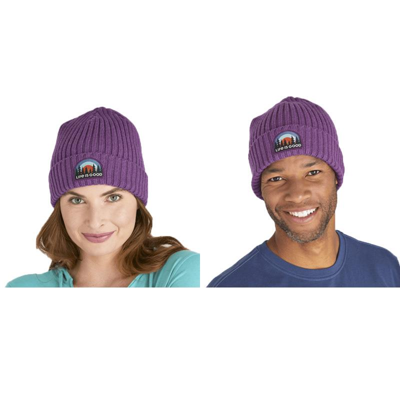 Forest Sunrise Patch Toasty Groove Beanie
