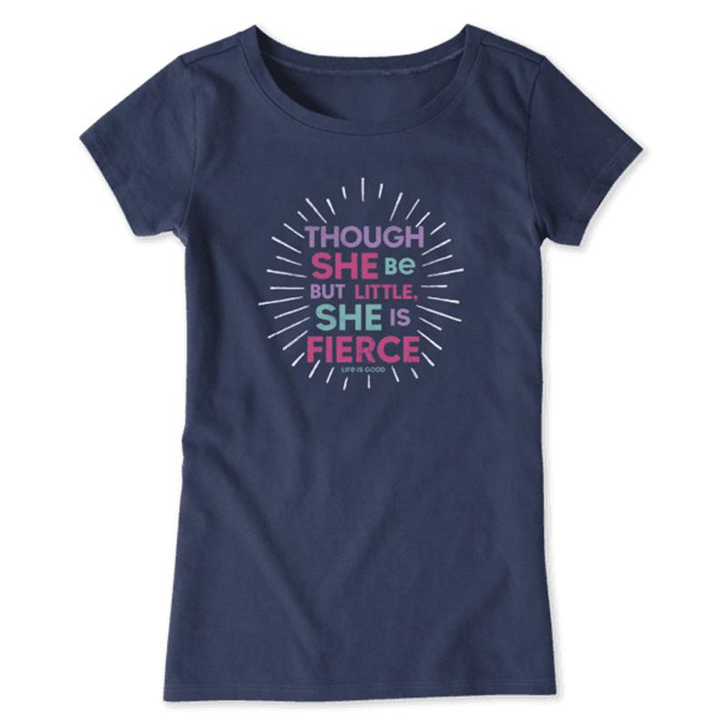 Girl's Little And Fierce Crusher Tee