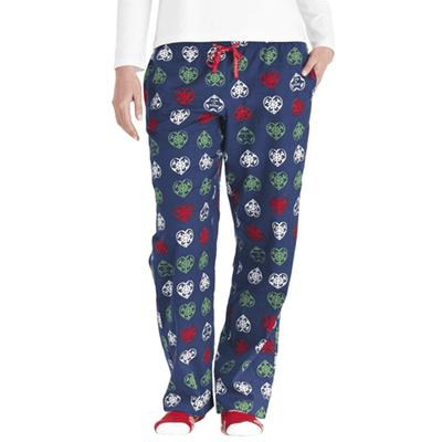 Women's Holiday Heart Snowflakes Classic Sleep Pant