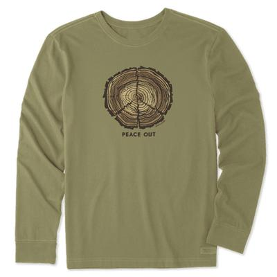 Men's Peace Out Long Sleeve Crusher Tee
