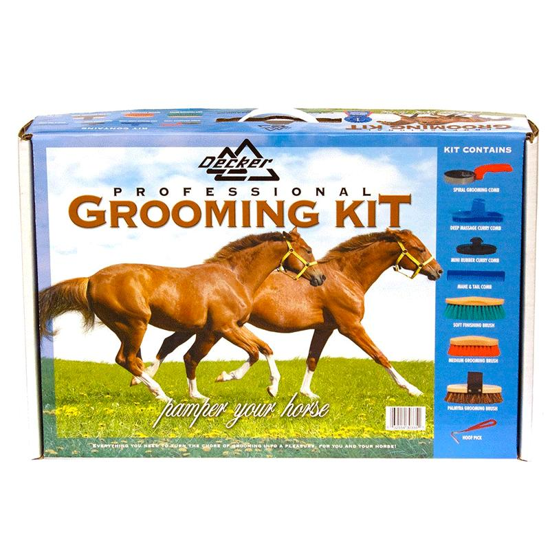 8- Piece Grip- Fit Horse Grooming Set