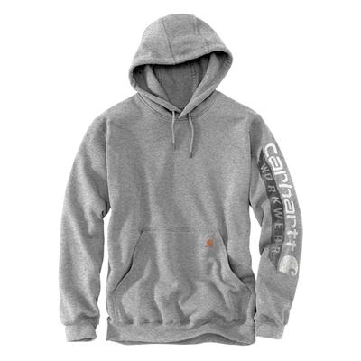 Men's Sleeve Logo Hooded Workwear Sweatshirt