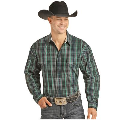Men's Poplin Plaid Snap Shirt