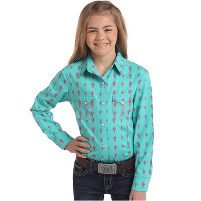 Girls' Two Pocket Snap Blouse