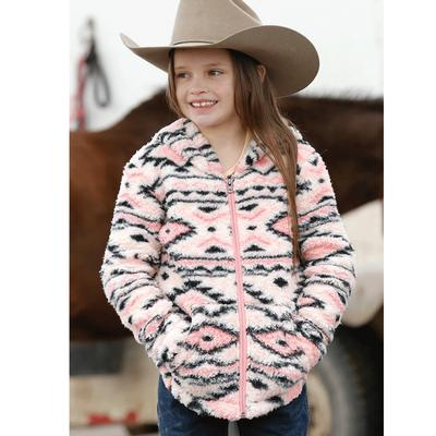 Girls Print Fleece Hoodie