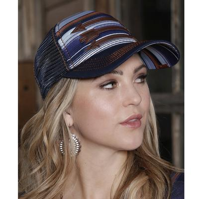 Women's Blanket Stripe Print Trucker Cap
