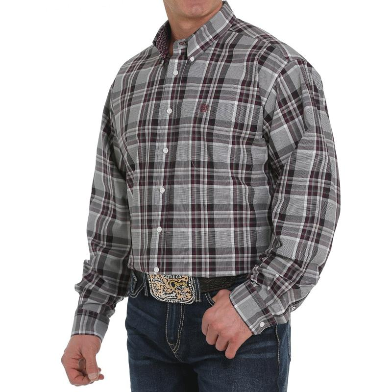 Men's Plaid Button- Down Shirt