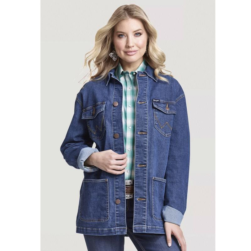 Women's Retro Denim Barn Jacket