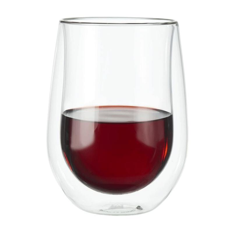Sorrento Double- Wall Glass Red Wine Glass