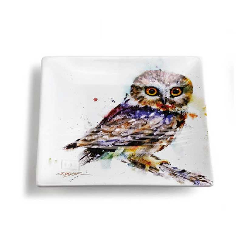 Saw Whet Owl Snack Plate