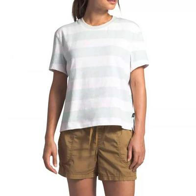 Women's Short Sleeve Stripe Knit Top