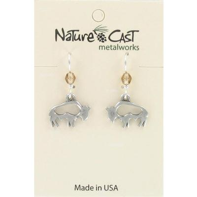 Buffalo Cutout Dangle Earring