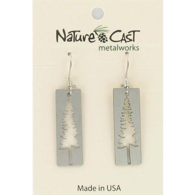 Tree Cutout Dangle Earring