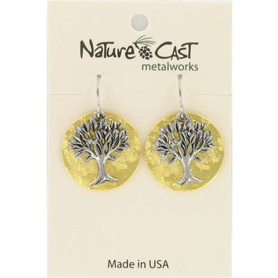Gold Tree of Life Dangle Earring
