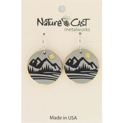 Two Tone Mountain Dangle Earring