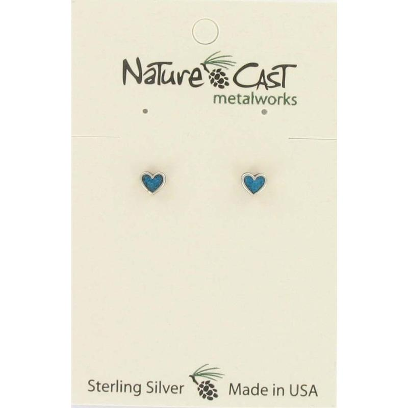 Turquoise Heart Post Earring