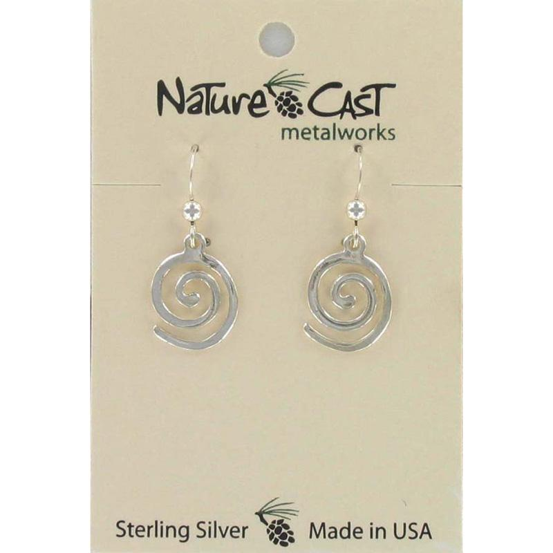 Flat Spiral Dangle Earring