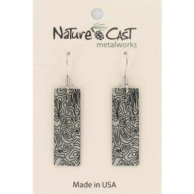 Topographical Map Dangle Earring